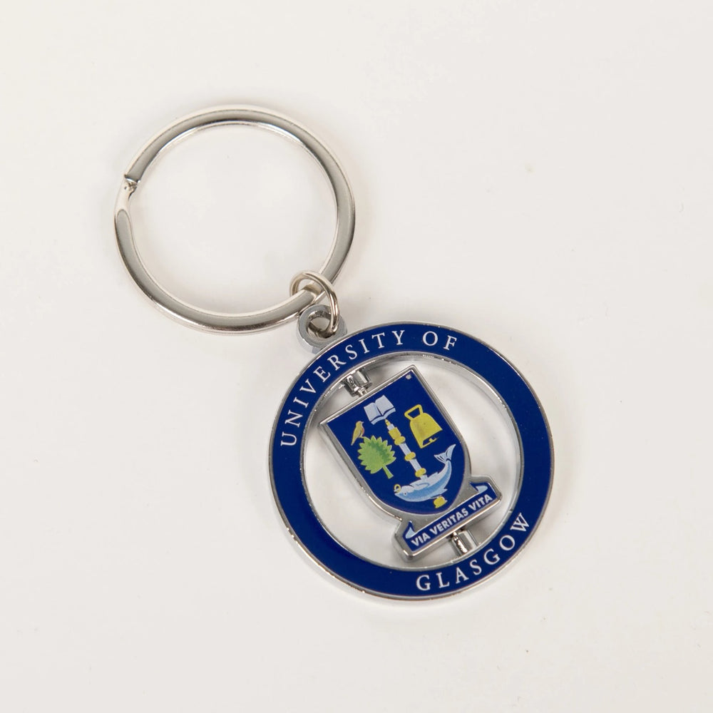 University Crest Spinner Keyring