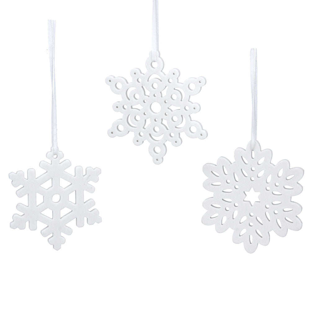 White Ceramic Snowflake