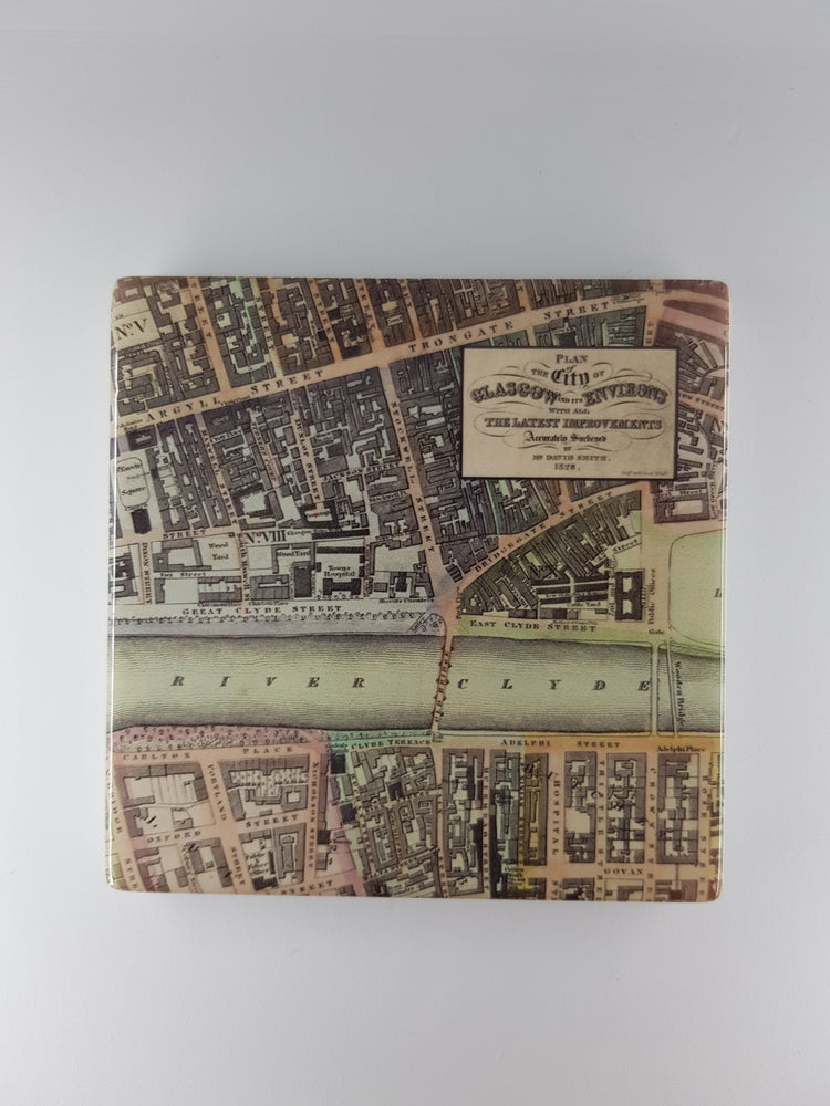 Glasgow Map Ceramic Coaster