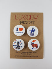 Glasgow Cityscape Badge Set