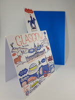 Glasgow Cityscape Greeting Card