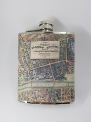 Glasgow Map Hip Flask