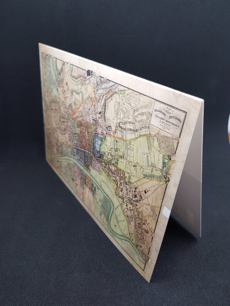 Glasgow Map Greeting Card