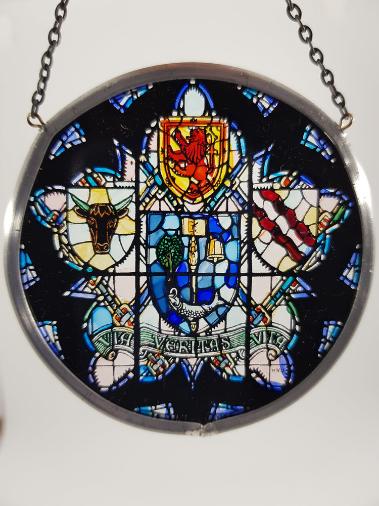 University Crest Glass Roundel (Small)