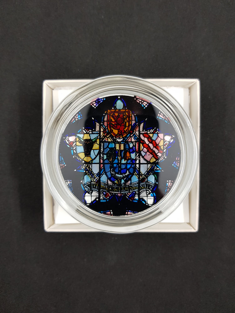 University Crest Glass Paperweight - boxed