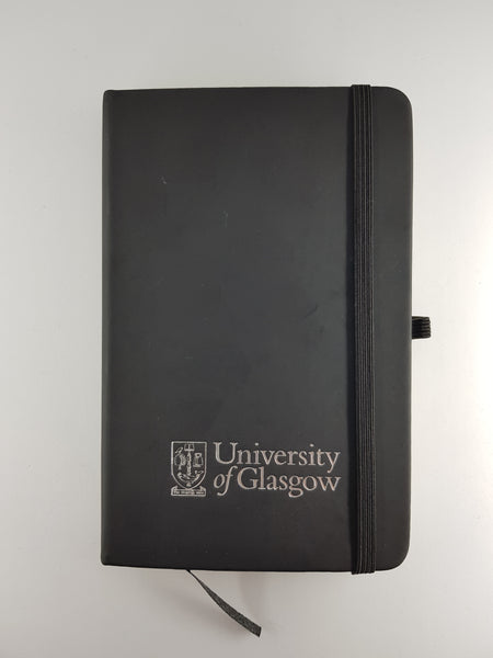 University Black A6 Notebook