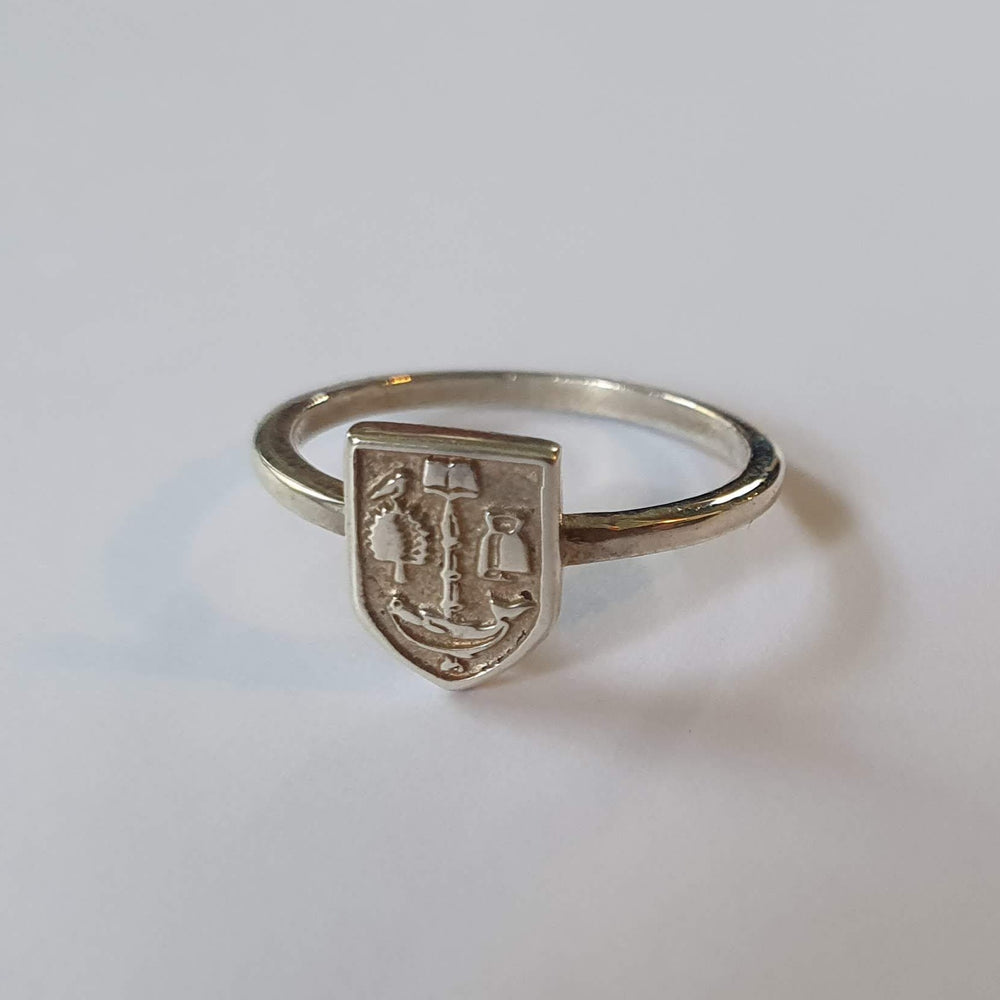 Bepoke Silver Crest Ring