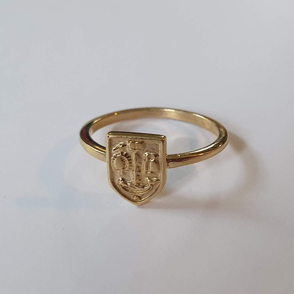 Bespoke Gold Crest Ring