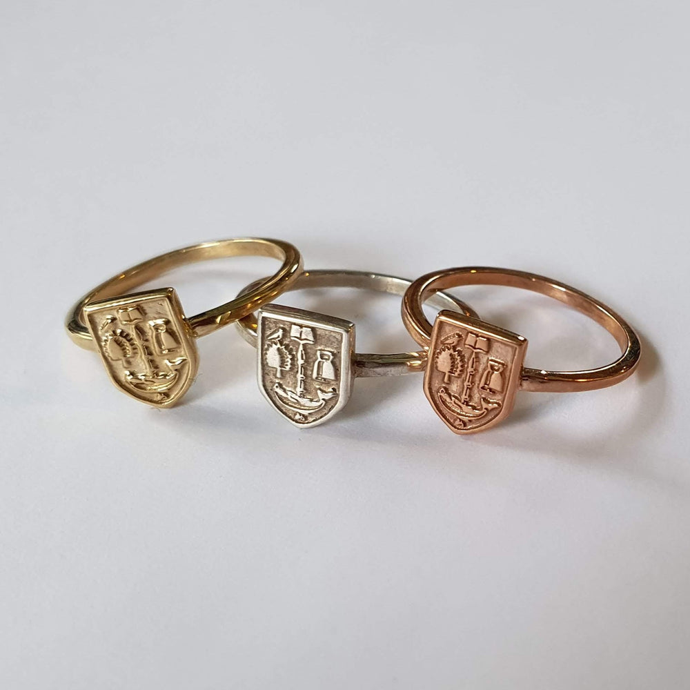 Bespoke Rose Gold Crest Ring