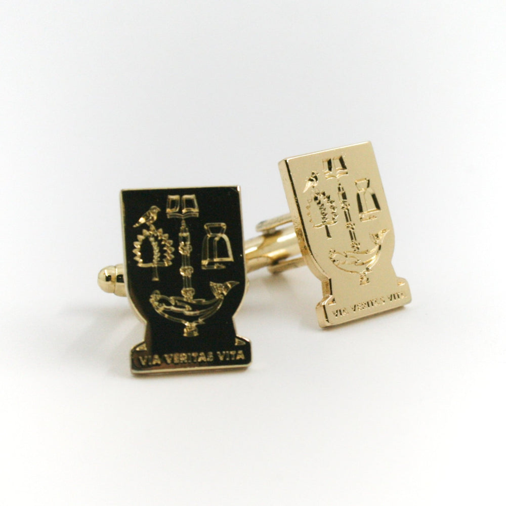 Gold Plated University Cufflinks