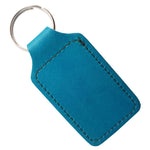 Embossed University Keyring in Aqua