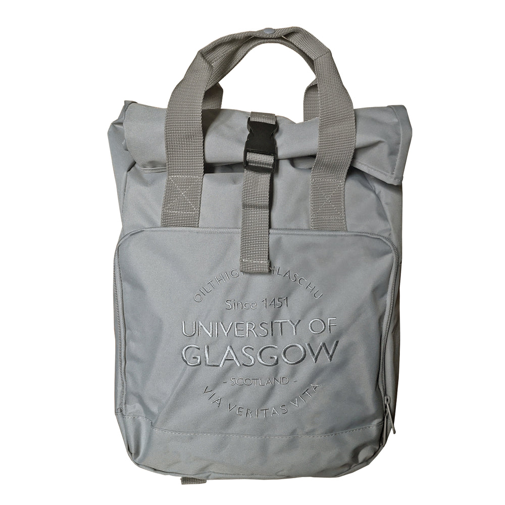 Light Grey Roll Top Backpack
