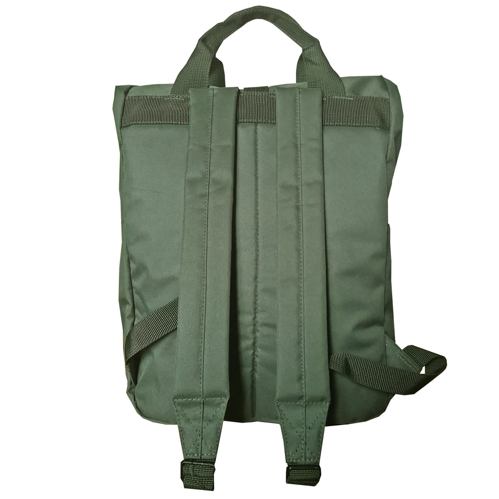 Olive Roll Top Backpack - reverse