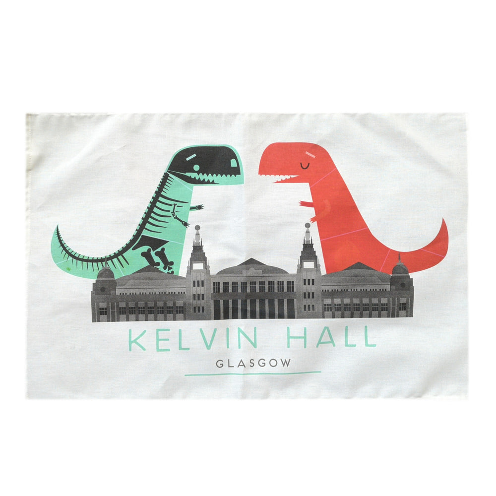 Kelvin Hall Dino Tea Towel