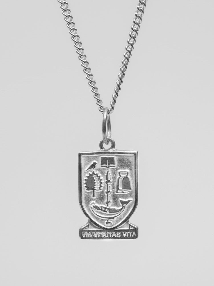 University Hallmarked Silver Crest Charm (chain not included)