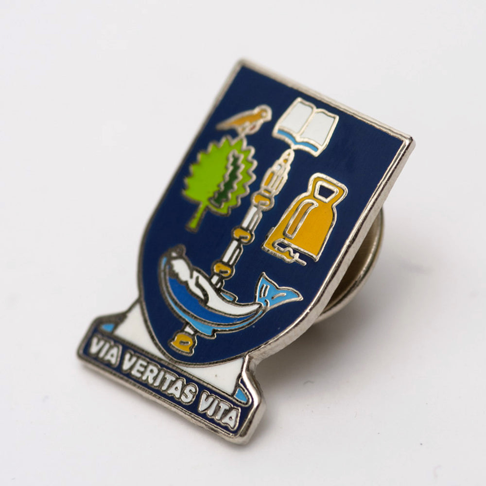 University Crest Lapel Pin