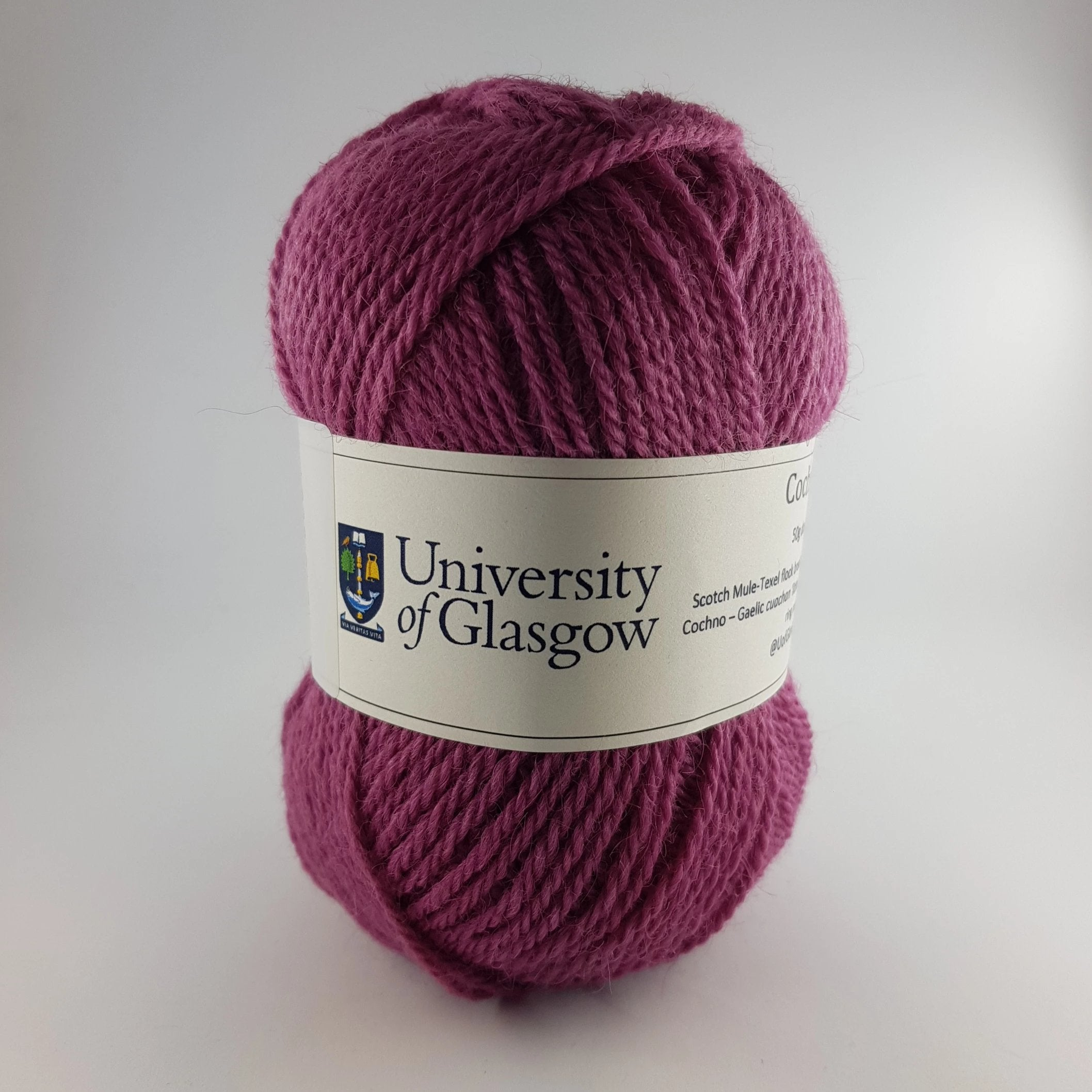 University Cochno Farm Wool - Thistle Pink