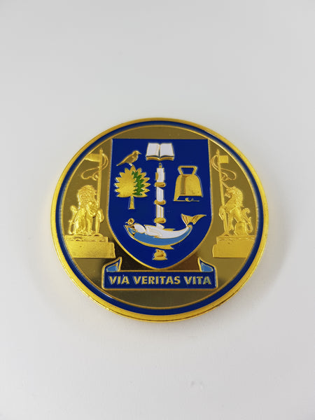 University Crest Gold Coin Magnet