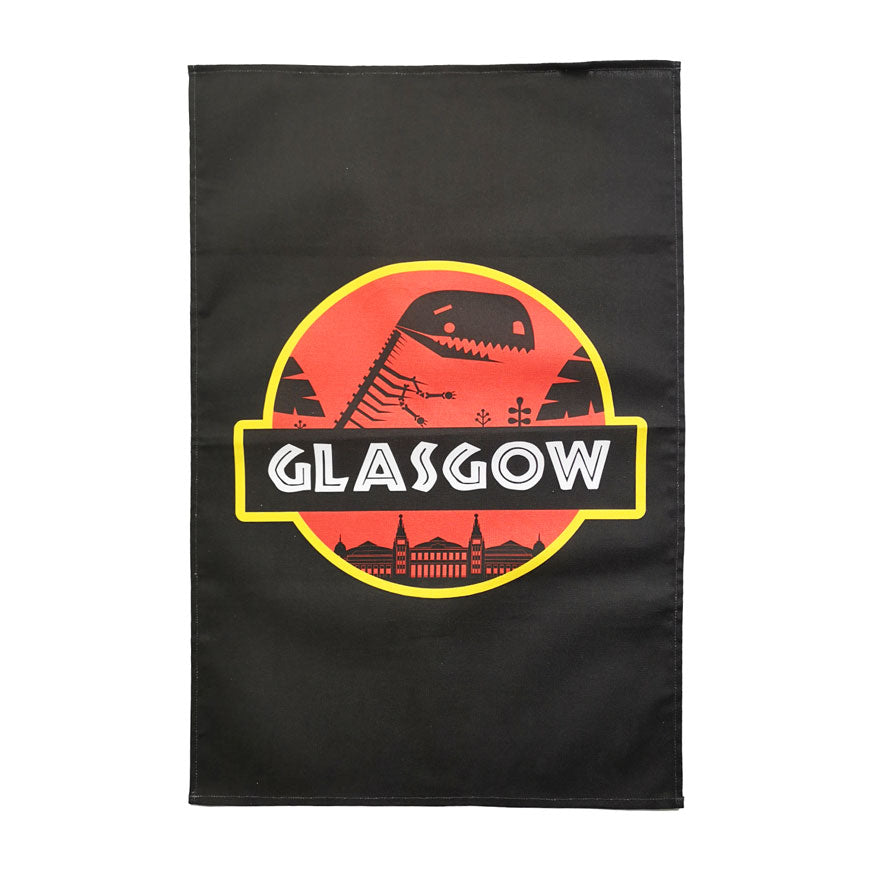 Jurassic Glasgow Tea Towel