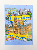 I Belong Tae Glasgow A4 Print