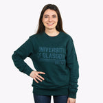 Organic Stripe Sweatshirt - Green