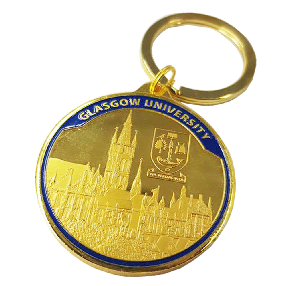 University Gold Coin Keyring