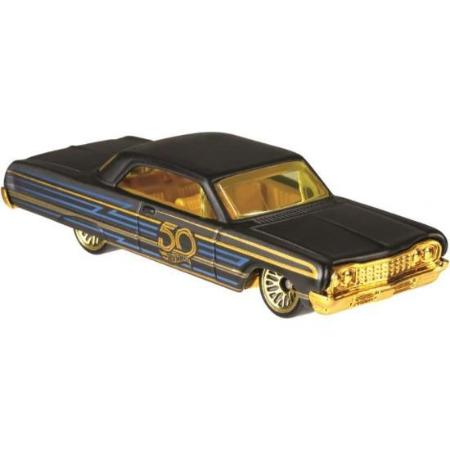 Hot Wheels Black & Gold 50th Anniversary Die Cast Vehicles Asst