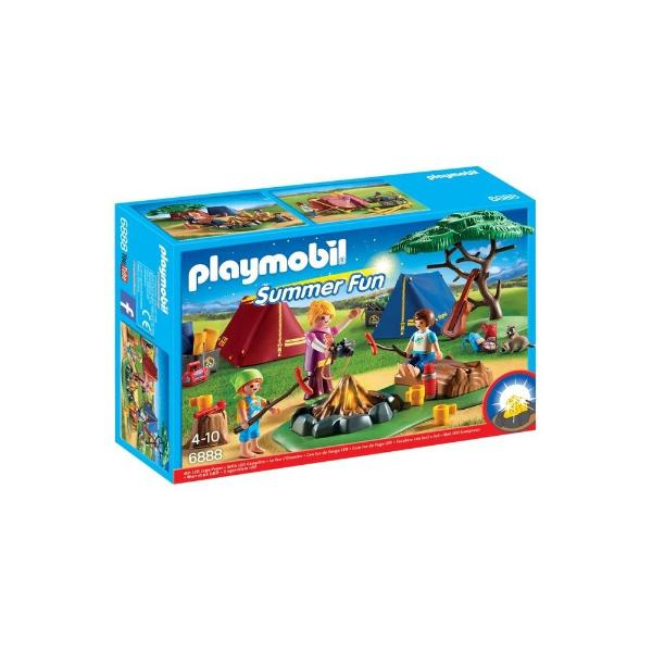 Playmobil Camp Site With Led Fire 6888