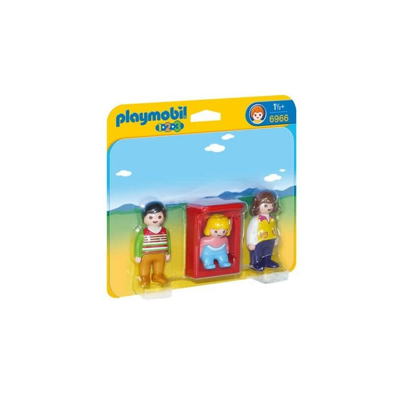 Playmobil 1.2.3. Parents With Baby Cradle-6966