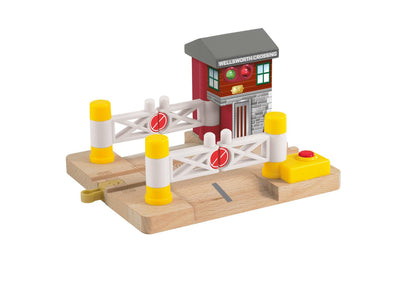 Fisher Price Thomas & Friends Wooden Railway Deluxe Railroad Crossing Signal
