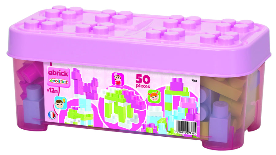 Ecoiffier Abrick 50pce Pink Case With Blocks