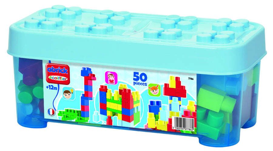 Ecoiffier Abrick 50pce Blue Case With Blocks