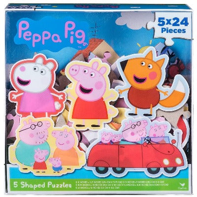 Peppa Pig 5 Shaped Puzzles