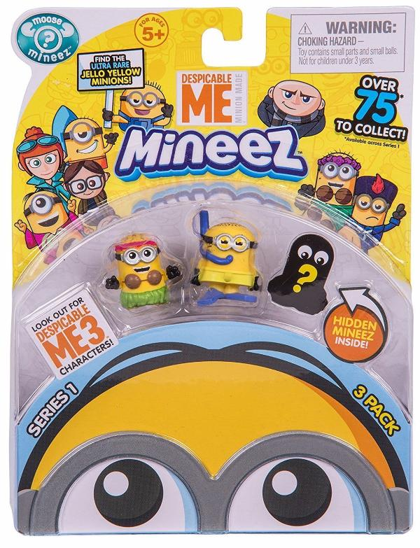Despicable Me- Mineez Series 1 3-Pack Figurines- Assorted