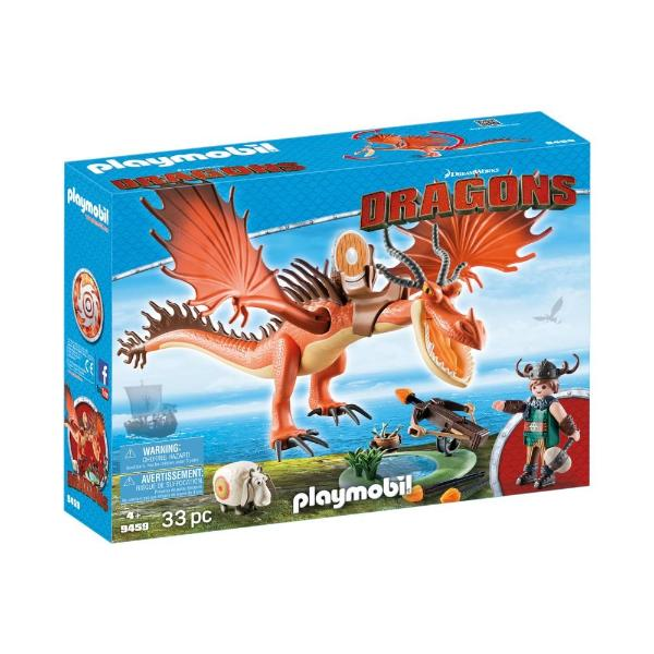 Playmobil Dragons Snotlout With Hookfang 9459
