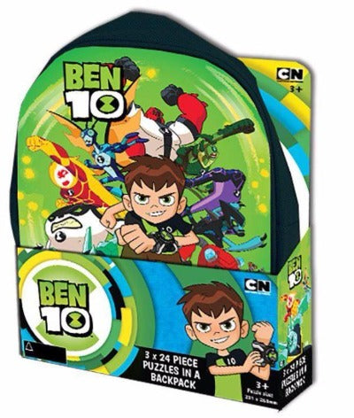 Ben 10-Puzzle In Backpack