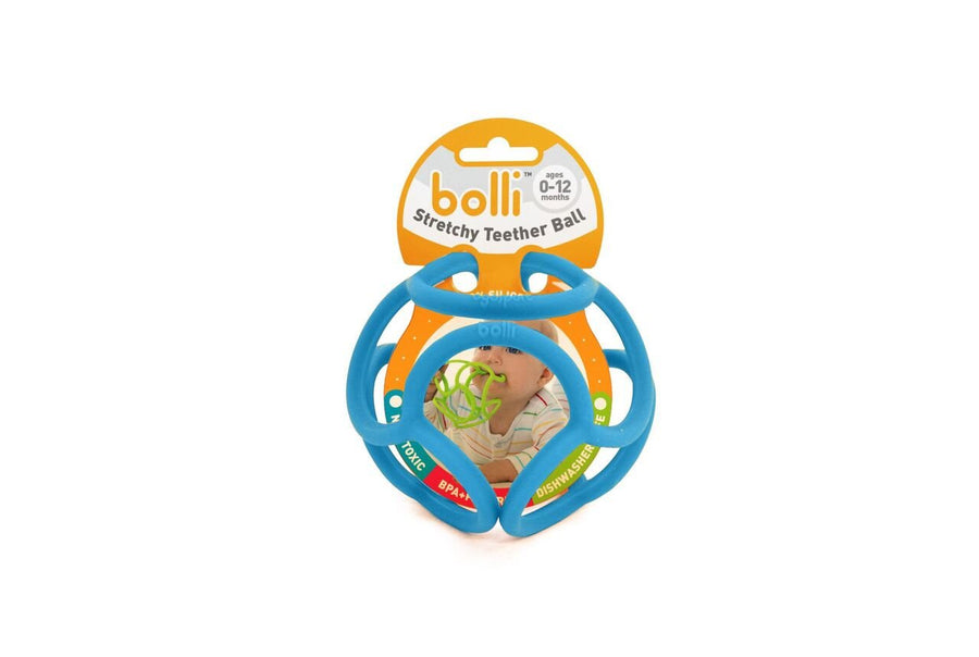 Bolli Blue Stretchy Teether Ball