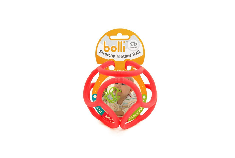 Bolli Red Stretchy Teether Ball