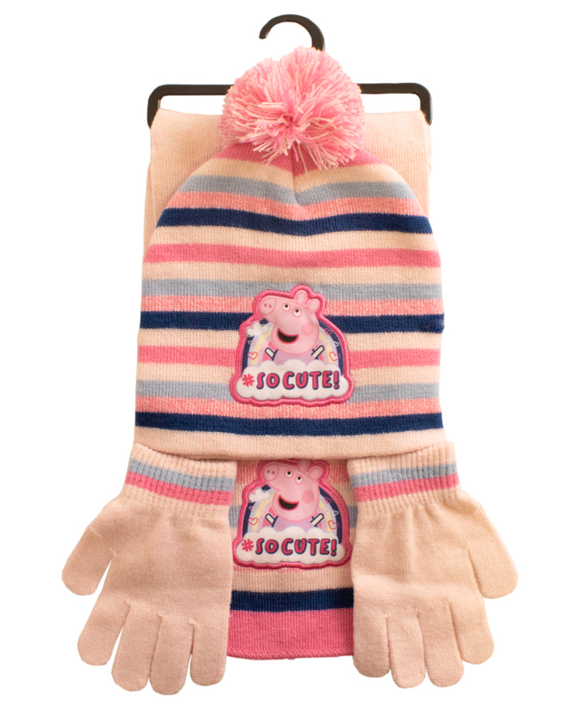 Peppa Pig 3 Piece Knitted Set
