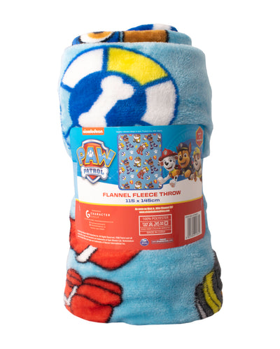 Paw Patrol Flannel Fleece Blanket Boys