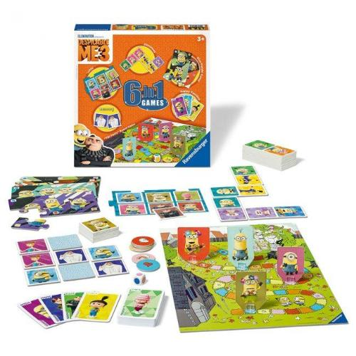 Ravensburger 6 in 1 Games- Despicable Me 3