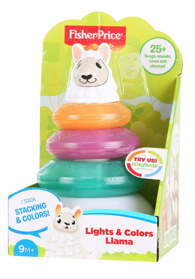 Fisher-Price Linkimals Lights & Colors Llama Stacking Toy - UK English Edition