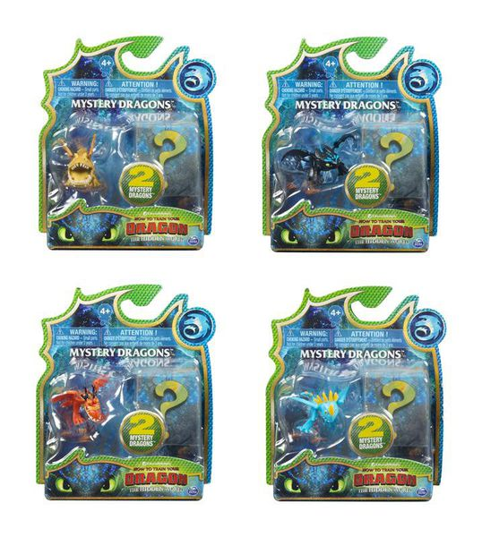 How To Train Your Dragon Mystery Dragons 2 Pack Assorted