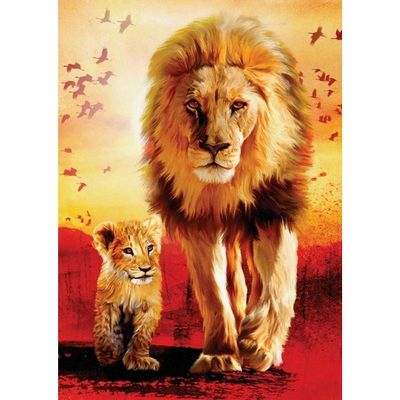 Ravensburger XXL 1000 Puzzle-Lion's First Steps