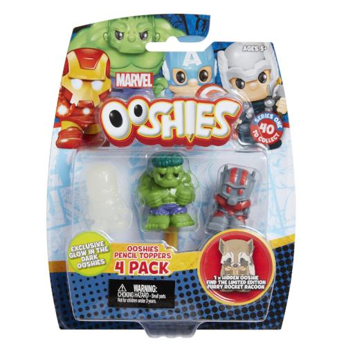 Marvel Ooshies Series 1 Pencil Toppers 4 Pack Asst
