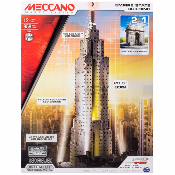 Meccano Maker System Series - The Empire State Building (2 in 1)-15306