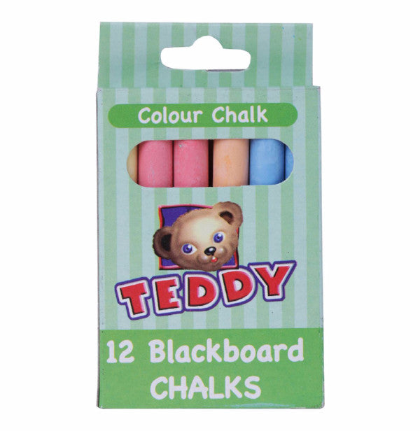 TEDDY 12 BLACKBOARD CHALK