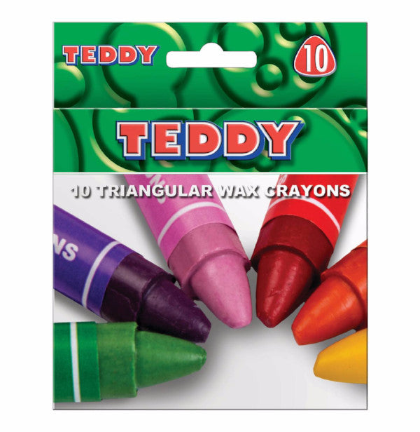 TEDDY- TRIANGULAR WAX CRAYONS