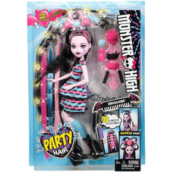 Monster High- Party Hair- Draculaura