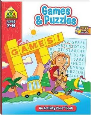 School Zone Games & Puzzle Activity Zone Book